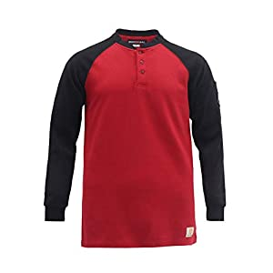Men's Flame Resistant Shirts  7oz Work Men's Fire Retardant Hen...