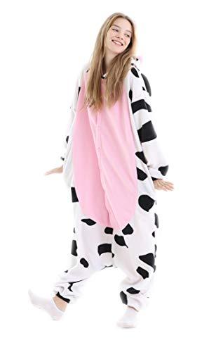 Cow Animal Adult Onesie Pajamas Unisex One Piece Cosplay Animal Costume L