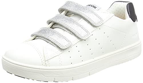 Geox J SILENEX Girl B, Basket, Blanc, 37 EU