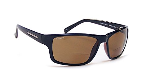 Coyote Eyewear BP-13 Polarized Reader Sunglasses (2.00), Black