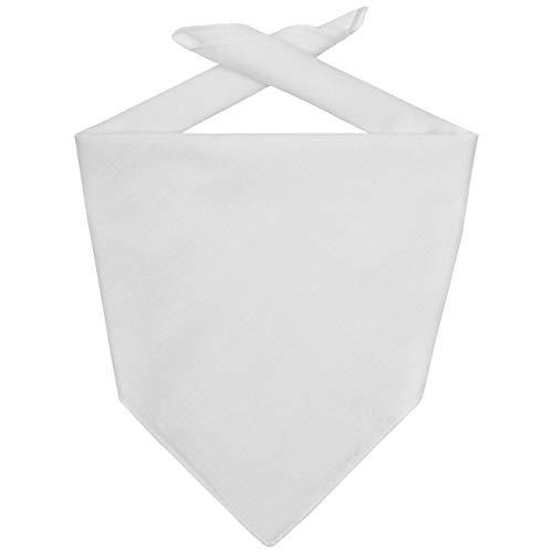 Hutshopping Bandana Tuch Bandanatuch Baumwolltuch Halstuch Bandanas Kopftücher (One Size - weiß)