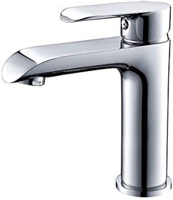 GFF Waschbecken Mischbatterie Bad Küche Waschtischarmatur Auslaufsicher Wasser sparen Verchromt Weie Farbe Sprühen Kaltwasser Keramikventil Einlochmontage Einhand Bad