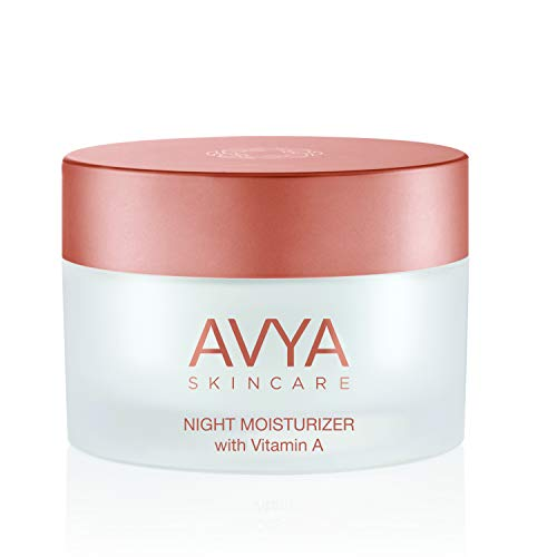 Avya Skincare Night Moisturizer | Ayurvedic Anti-Aging Treatment | Luxury Moisturizer | Reduces Fine Lines & Wrinkles | Retinoid Skin Renewal | Contains Vitamin A, Astaxanthin | 1.7oz