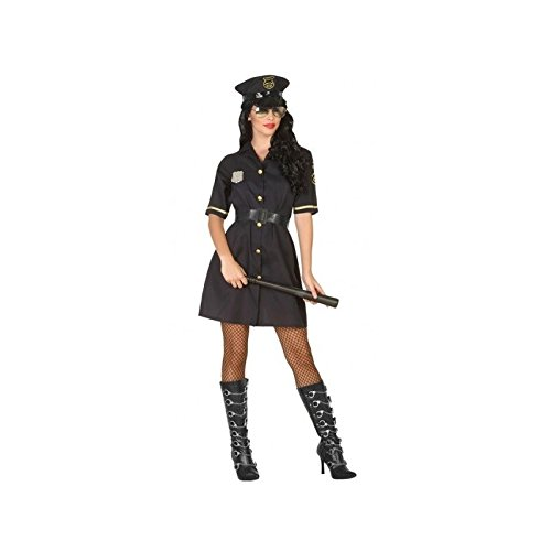 Atosa - 95427 - Costume - Déguisement Femme Policier Noir - Taille 2