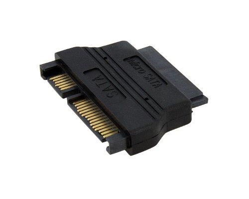 StarTech MCSATAADAP - Adaptador SATA a Micro-SATA, Negro