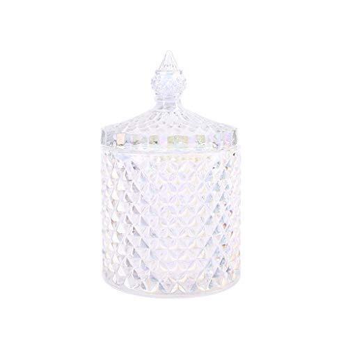JERKKY voorraadpot 1 stuk glas Candy Jar stijlvolle juwelendoos doos decoratieve containers met deksel S-kleurrijk