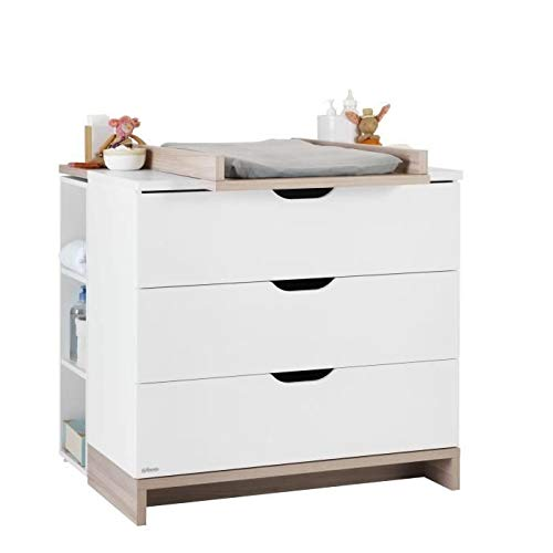 GALIPETTE Lilo Commode 3 tiroirs avec plan a langer
