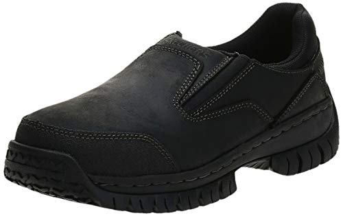 Skechers for Work Men's Hartan Slip-On Shoe, Black, 8.5 M US
