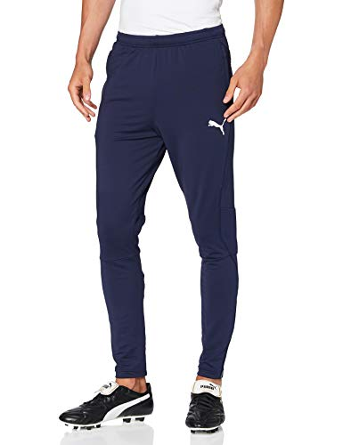 PUMA Liga Training Pants Pro Pantalones, Hombre, S, Morado (Peacoat/puma White)