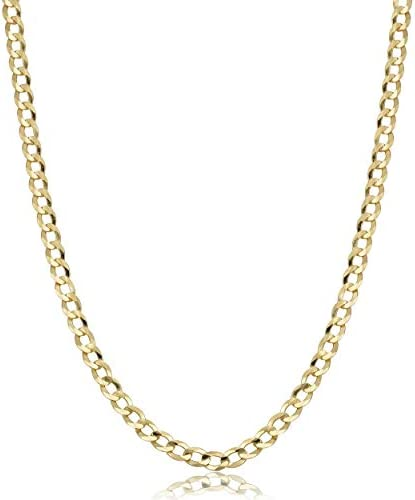 10K Gold Unisex 2 2mm Italian Cuban Curb Link Chain Necklace 10K Necklaces 16 18 20 24 30 24 product image