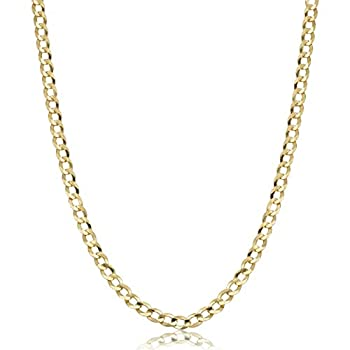 Verona Jewelers 10K Gold 4.5mm Italian Cuban Curb Link Necklace- 10K Gold Necklaces 10K Cuban Necklace 10K Gold Curb Chain 10K Gold Chain 10K Link  22 2.5MM