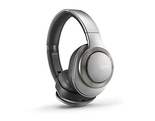 Cleer Flow Bluetooth Wireless Headphones, Hybrid Noise-Cancelling, Over-Ear, Auto-Pause - Silver