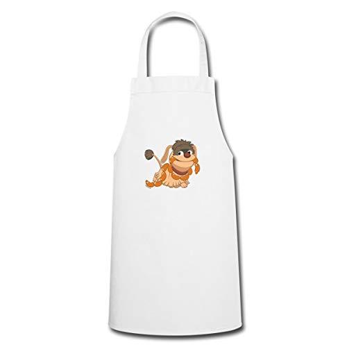 Spreadshirt Sandmännchen Hund Moppi Mit Wurstkette Kochschürze, Weiß