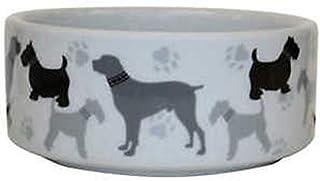 Vitapet Ceramic Bowl Dog Print - 19.1cm