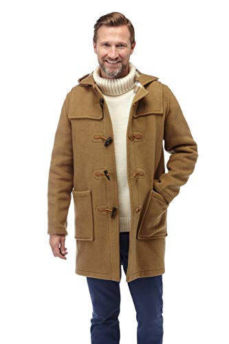 Original Montgomery herren Duffle Coat –-Toggle Coat Kamel EU 48 Herstellergröße 38