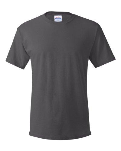 Hanes Mens TAGLESS ComfortSoftCrewneck T-Shirt,Smoke Gray,XLarge