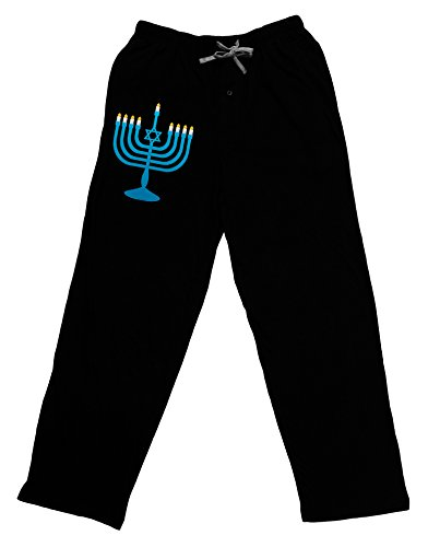 TOOLOUD Hanukkah Menorah Adult Lounge Pants - Black- XL