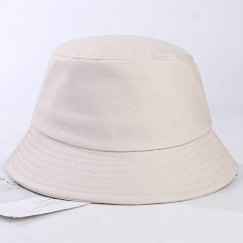 Bucket Hat Chapeau Coton Uni Chapeau De Seau Hip Hop Unisexe Blanc Panama Sports De Plein Air Femmes Casquette De Pêche Solide Pêcheur Chapeau De Soleil Taille Adulte Beige