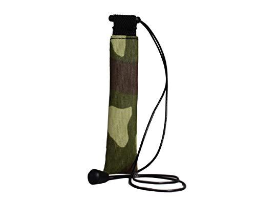 Plan B E-sigaret tas Myblu militair (12,5 x 3,2 cm) met 100 cm snoer met ritssluiting groen