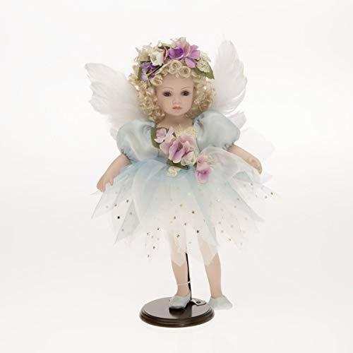 Sammlerpuppe, Porzellanpuppe, Künstlerpuppe, Engel Puppe Feen Puppe mit Flügel 47cm 122466