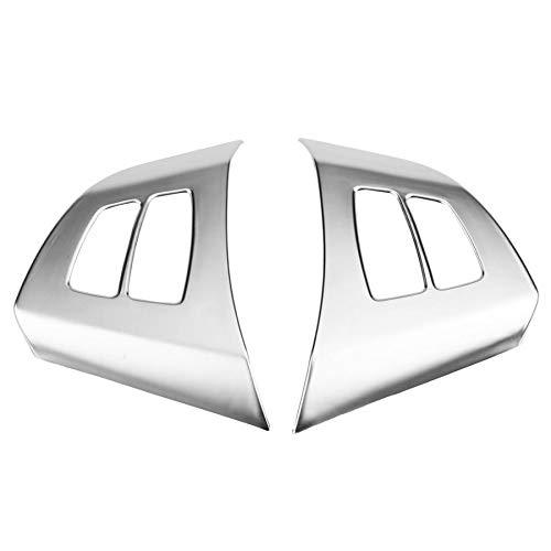 Piezas de automóviles para BMW X5 E70 2008 2009 2010 2011 2012 2013 Volante del Coche Cromo Postizo De Guarnición De La Cubierta Placa 2 Piezas De Decoración Interior del Coche Decoración