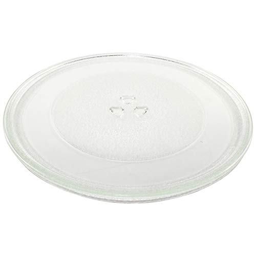 HQRP 12-inch Glass Turntable Tray fits Amana R0130603 WPR0130603 ACO1840AB AMV4204AAB AMV5206AAB JMV8196AAB MMV4184AAB MMV5186AAQ ACO1860AW JMV8196ACB Microwave Oven Cooking Plate 305mm