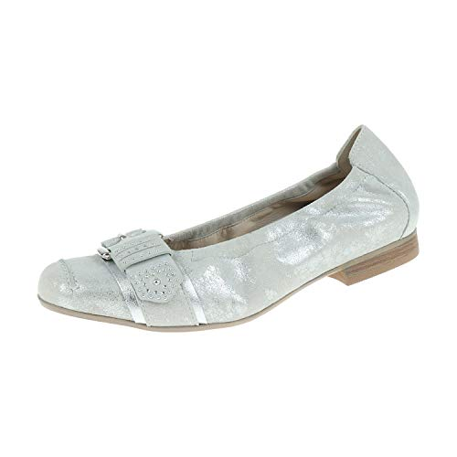 Semler damesschoenen Ballerina denise wit zilver D5348481101