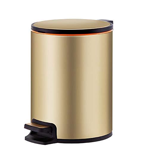 LOKIH Keuken RVS pedaal vuilnisbak 10L, stille vertraging vuilnisbak pedaal vuilnisbak met pedaal en binnenbak