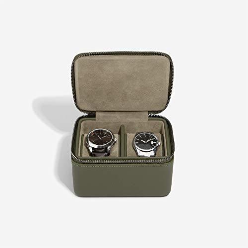 Stackers Boîte à montre double vert olive