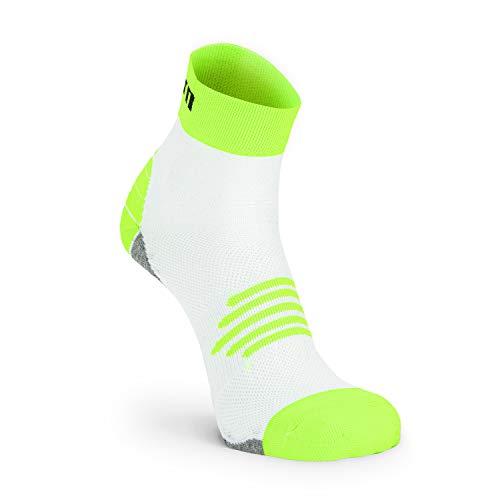 Nordhorn Kurze Sportsocken für Damen und Herren, Quarter Sneaker Socken Atmungsaktiv zum Laufen, Joggen, Fitness, Radfahren (Hellgrün, 41-43)