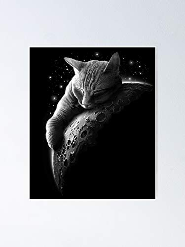 Mooncat Poster - for Quote Print, Affordable Wall Art Printable, Gallery Wall, Family, Friends, Brother, Sister, Kids.