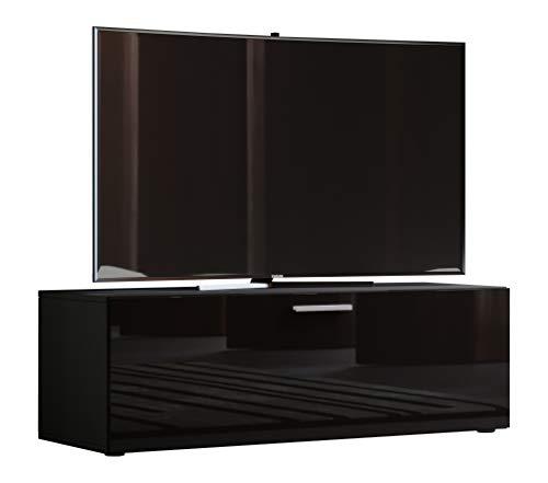 VCM TV Lowboard Fernsehtisch Rack Phono Möbel Tisch Holz Sideboard Medienrack Fernsehbank Schwarz 40x115x36 cm