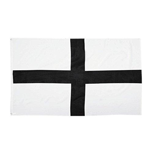 Isideco Flagge Deutscher Ritterorden schwarzes Kreuz auf Weiß 90x150cm