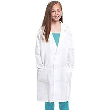 Bata Blanca Niños Infantil Disfraz Científico Médico (Talla 7-9 ...
