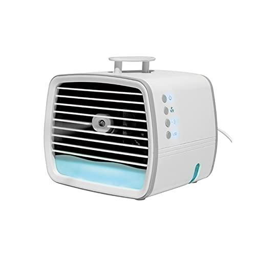 MXYSP Aire Acondicionado móvil, acondicionador de Aire Acondicionado 3 en 1 Humidificador con Mini Aire Acondicionado Purificador de Aire con Ventilador de Escritorio USB 7 Luces LED para Dormitorio