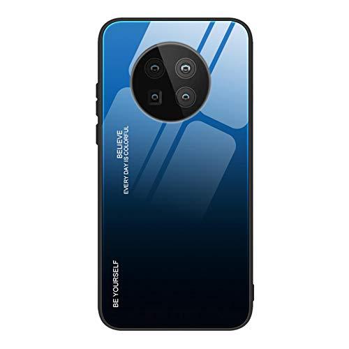 GOGME Hülle für Huawei Mate 40 Pro Hülle, Farbverlauf-Glas Back Cover Handyhülle, Ultra Thin Tasche Cover TPU Silikon Grenze Shock Absorption Stoßfest Hülle Schutzhülle(7)