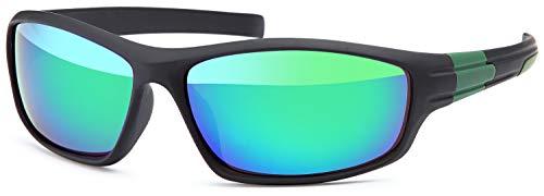 Balinco Occhiali per sport | Occhiali di bicicletta / da corsa /da pesca / da golf | Occhiali da sole / da sci | Outdoor | Per uomini e donne (Black-Green)