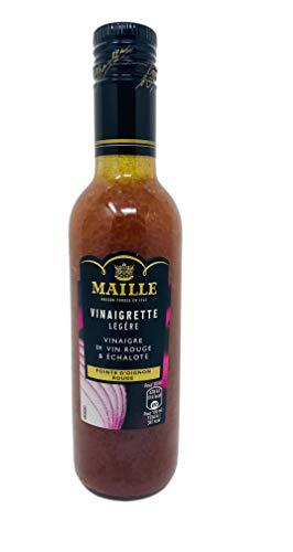 Maille Vinaigrette Salatdressing mit Rotweinessig und Zwiebeln