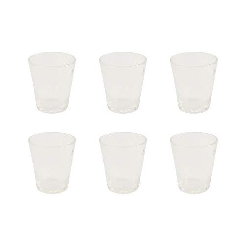 """Villa d""""Este Home Tivoli Set 6 Pezzi Cancun Bicchiere Acqua, Vetro soffiato, Bianco, 9 cm, 6 unità"""