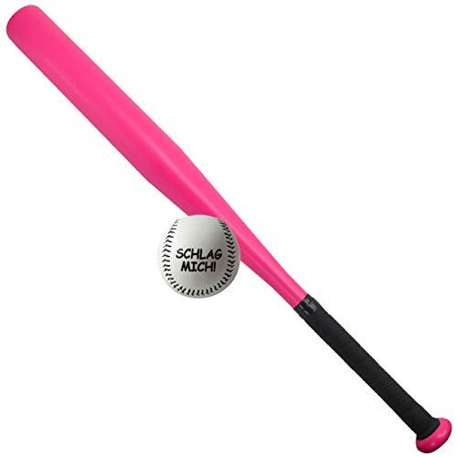 Spass kostet Sportset für Frauen Baseballschläger mit Ball in PINK rosa 26 Zoll Aluminium