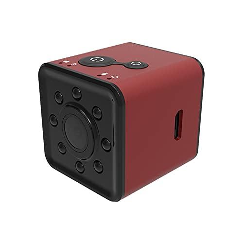 CHENPENG Mini cámara espía Impermeable, cámara Oculta portátil HD 1080P, con visión Nocturna y detección de Movimiento para Interiores y Exteriores,Rojo