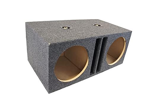 Car Audio Dual 12' SPL Bass Subwoofer Labyrinth Vent Sub Box Stereo Enclosure