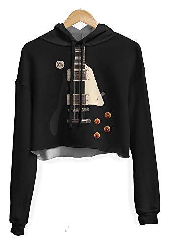 Blusa Cropped Moletom feminina Guitarra Les Paul Md01 - GG