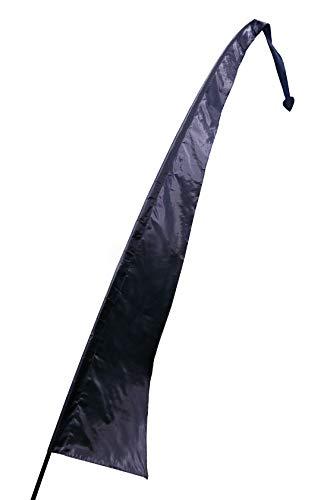 Pink Pineapple Gekleurde Festival Vlag van Parachutezijde: Vlag Voor een Strandfeest met 5 Meter Bedrukbare Stof - Geen Mast Inbegrepen - Zwart