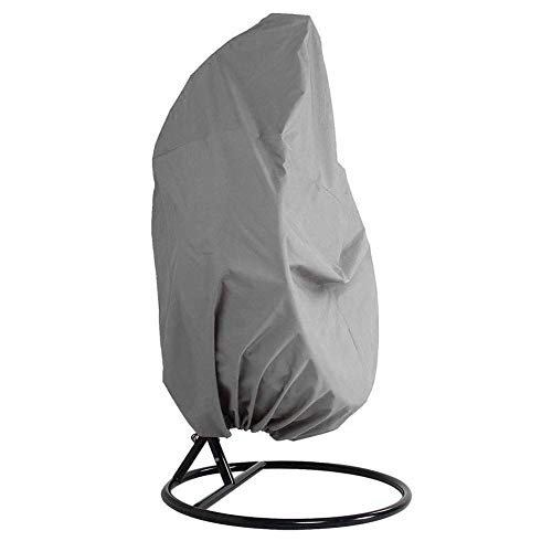 terrasse Housse de chaise à suspendre 420d Oxford Tissu imperméable véranda Patio Cocoon Oeuf Chaise meubles de jardin Housse de protection avec ourlet élastique et cordon de serrage