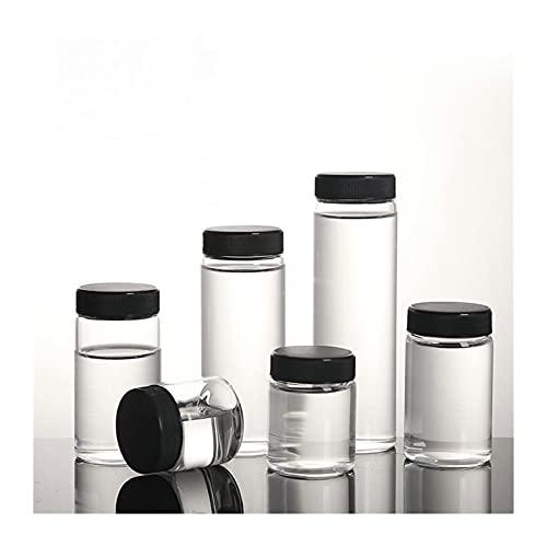 Aparato de destilación del laboratorio Botella de reactivo de vidrio de 15 ml a 200 ml, botella de botella de muestra de muestra química botella de prueba con estera an-ti-corrosión laboratorio por ZS