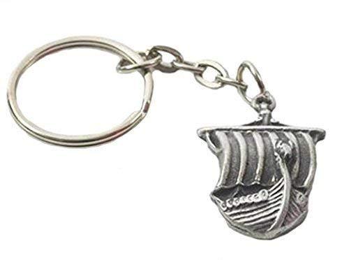 Hecho a mano llavero + barco Vikingo peltre + bolsa de Organza de la UNIONE calcio Sampdoria