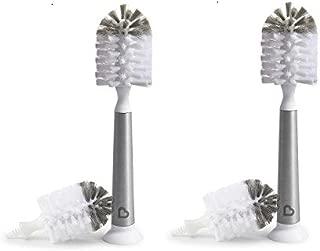 Munchkin Shine Stainless Steel Bottle Brush & Refill Brush Head- 2 Pack