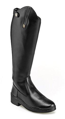Brogini Modena Reitstiefel, lang, Schwarz - schwarz - Größe: 4 UK