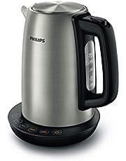 Philips HD9359/90 Waterkoker van roestvrij staal voor thee tot babyvoeding, 2200 watt, 1,7 liter, warmhoudfunctie
